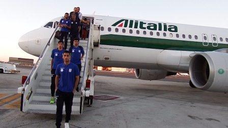 تصاویری از لحظه ورود تیم ملی ایران به ایتالیا