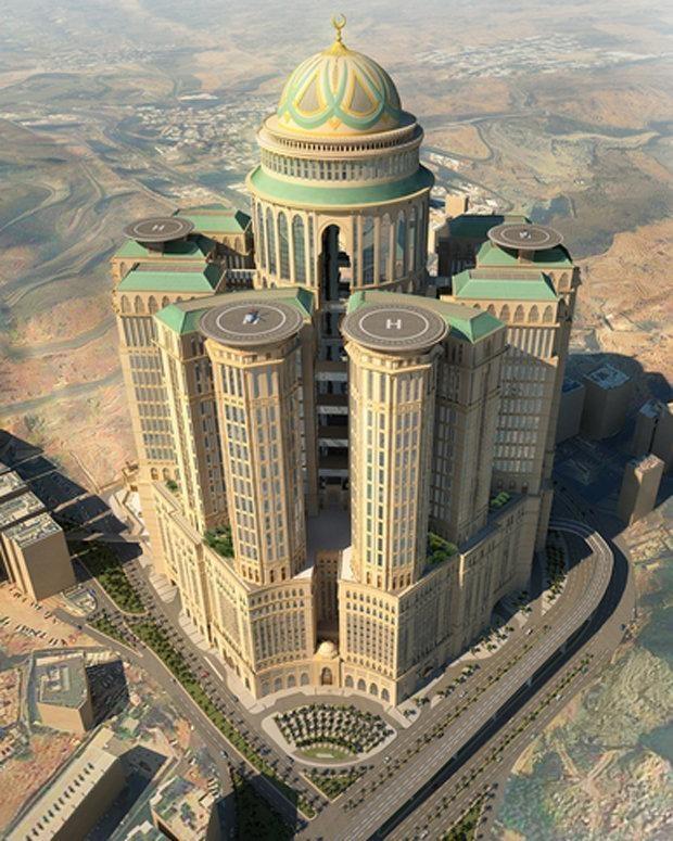 بزرگترین هتل جهان در مکه ساخته میشود/۲کیلومتری مسجدالحرام با ۱۰هزار اتاق/ ۵طبقه برای خانواده سلطنتی