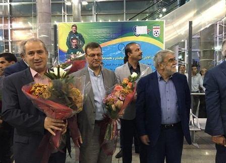 تصویری از استقبال از داوران المپیکی در فرودگاه امام (ره)