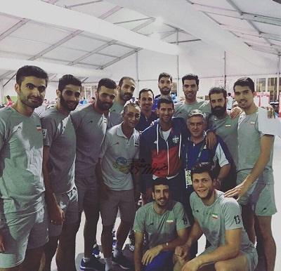 ستارههای والیبال ایران در کنار ستاره تنیس دنیا