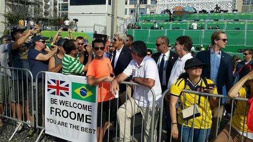 عکسی از جان کری در مسابقات المپیک