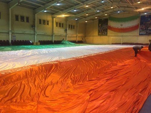 رونمایی از بزرگترین پرچم ملی جهان در بازی ایران و قطر