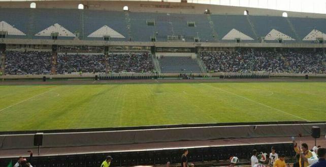 تصویری از ورزشگاه آزادی،دقایقی قبل
