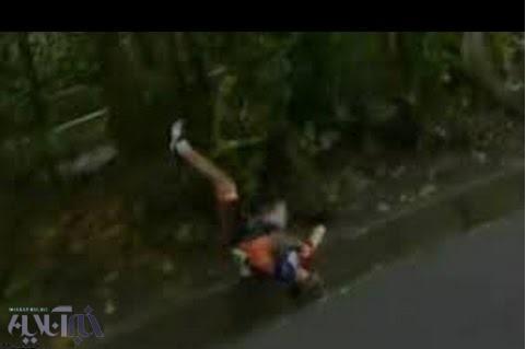 تصاویر تازه منتشر شده از لحظه حادثه مرحوم گلبارنژاد