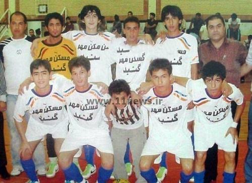 تصویری از مهاجم اول تیم ملی که زمانی فوتسالیست بود