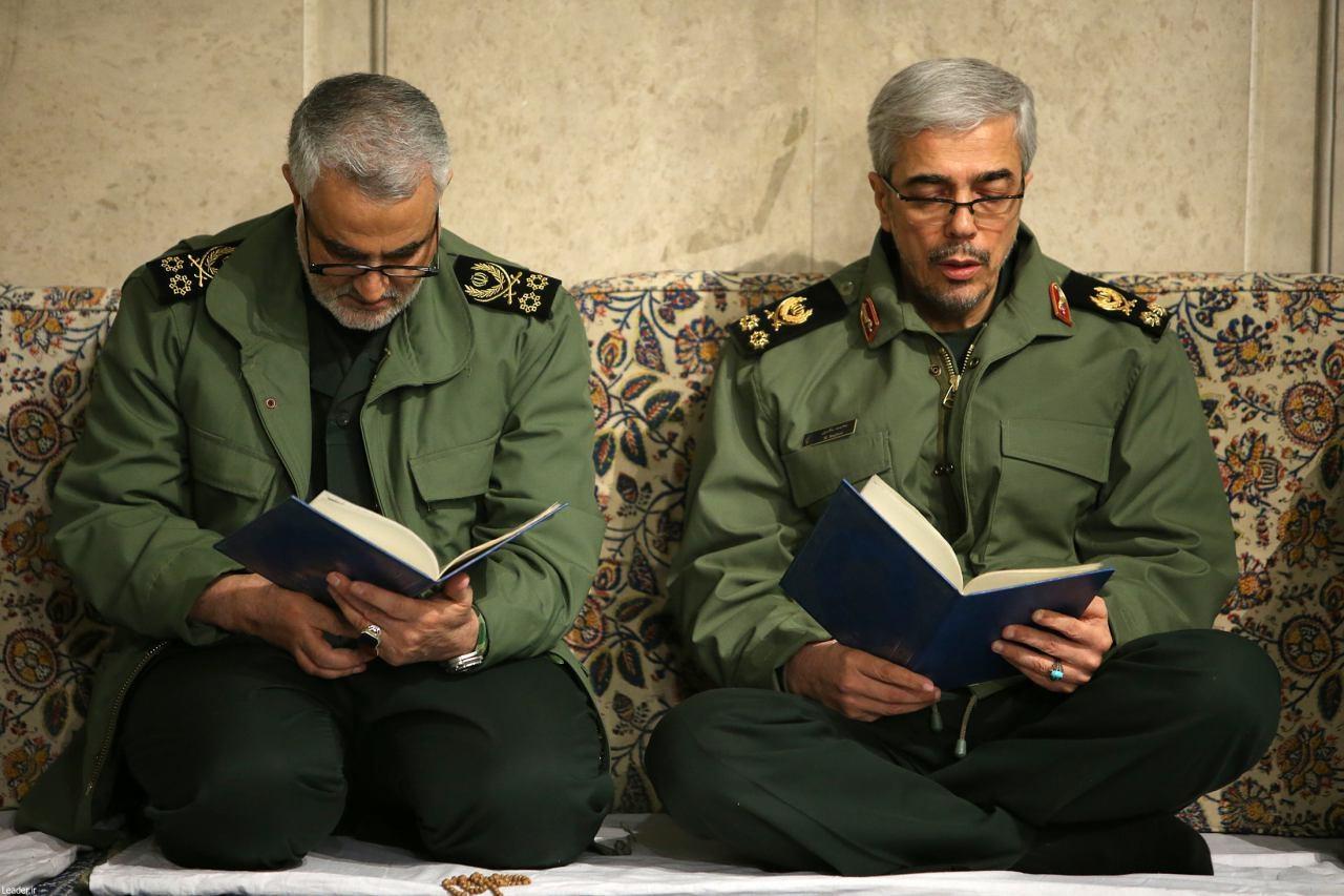 عکس | سرلشکر باقری و سردار سلیمانی در مراسم ترحیم آیتالله هاشمی