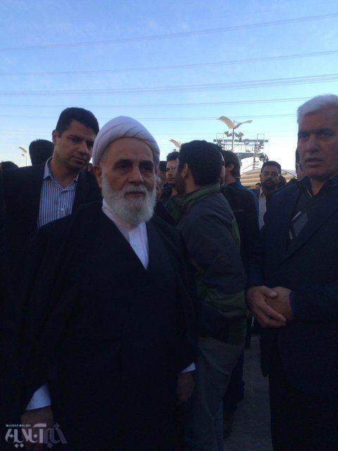 تصاویر   ناطقنوری و سیدحسن خمینی در مراسم ترحیم آیتالله هاشمی در دانشگاه آزاد