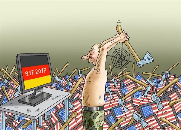 نقشه پوتین برای انتخابات آلمان! / کاریکاتور