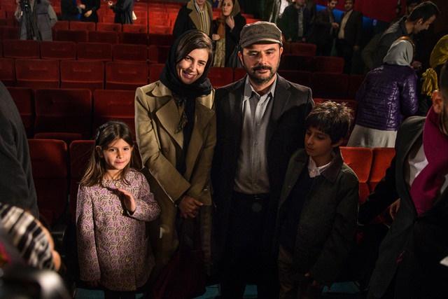 عکس   لیلا حاتمی، علی مصفا و فرزندانشان در یک قاب