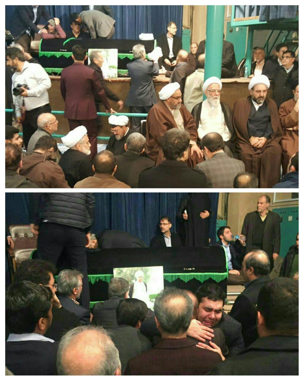 پیکر هاشمی رفسنجانی در جماران