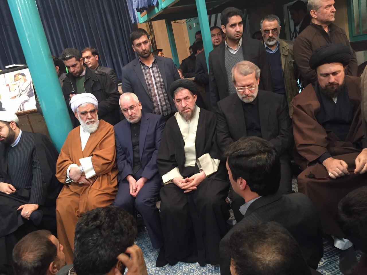 لاریجانی در حسینیه جماران