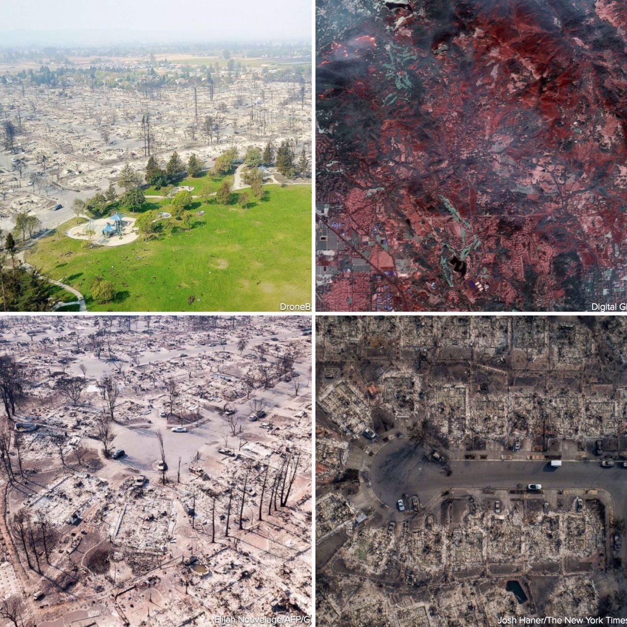 آتش سوزی کالیفرنیا: 31 کشته، صدها مفقود، ویرانی 3500 بنا و آتش سوزی در 190 هزار هکتار زمین/ عکس