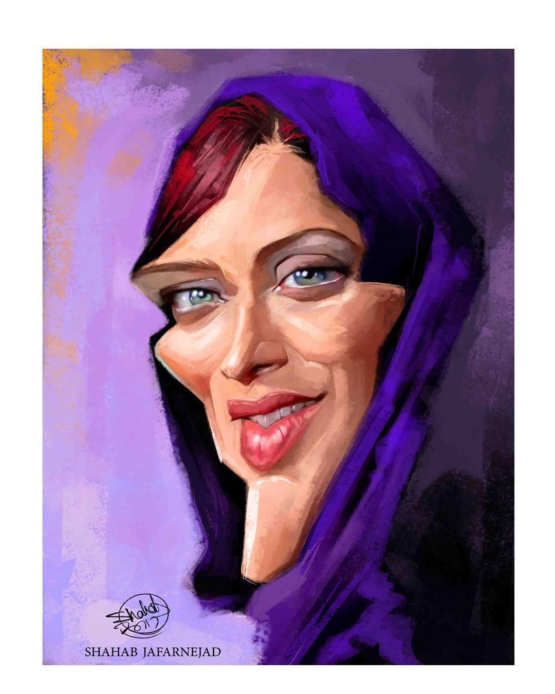 بازیگران سینما و تلویزیون ایران,مهتاب کرامتی,کاریکاتور