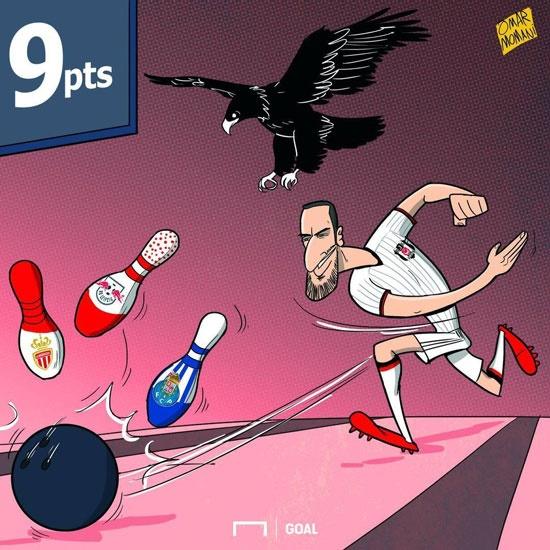کاریکاتور,لیگ قهرمانان اروپا