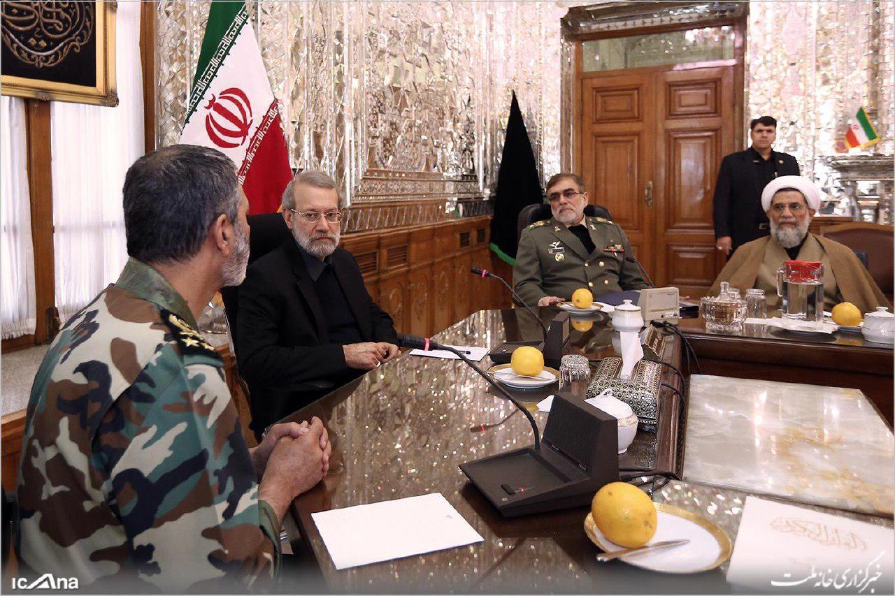میزبانی لاریجانی از فرماندهان جدید ارتش+عکس