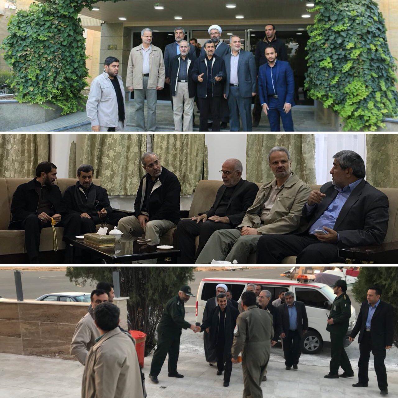 17 11 17 81738photo 2017 11 17 08 14 09 - عکس| احمدینژاد برای بازدید از مناطق زلزلهزده به کرمانشاه رفت
