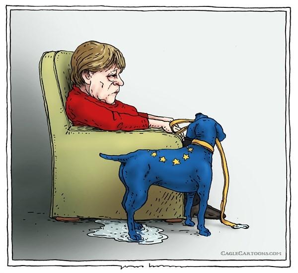 آنگلا مرکل,کاریکاتور,اتحادیه اروپایی