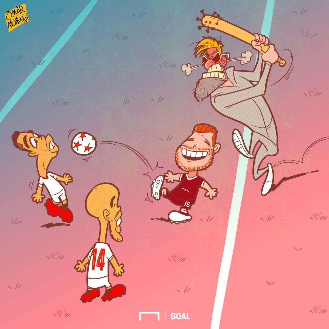 کاریکاتور,فوتبال اروپا