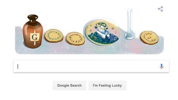 لوگوی گوگل به افتخار رابرت کخ/ پزشکی که به خاطر تحقیقات درباره سل نوبل گرفت