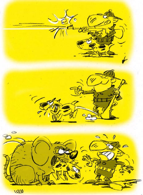 موش,کاریکاتور