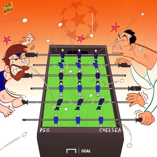 لیونل مسی,کریستیانو رونالدو,کاریکاتور,فوتبال اروپا