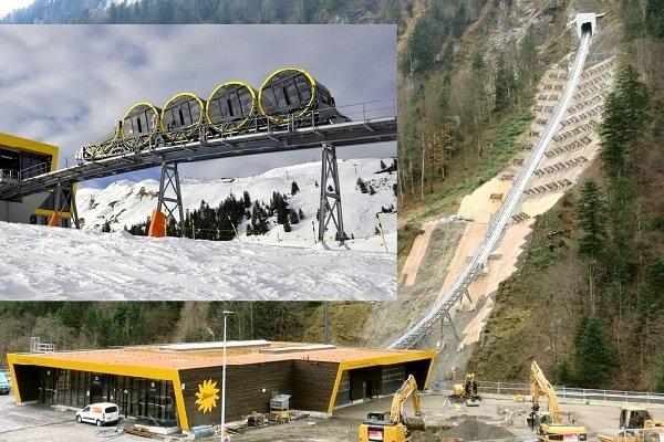 ابتکار عجیب سوئیسی ها برای حرکت قطار در شیب تند 47درجه