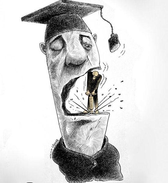 دانشجو,کاریکاتور,دونالد ترامپ