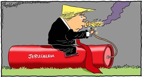 دونالد ترامپ,کاریکاتور,فلسطین