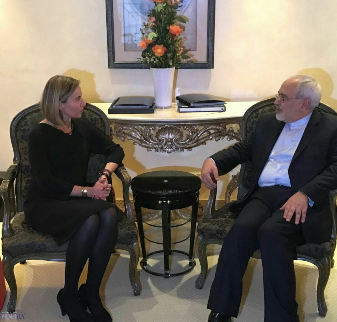عکس | دیدار ظریف با موگرینی در حاشیه کنفرانس امنیتی مونیخ