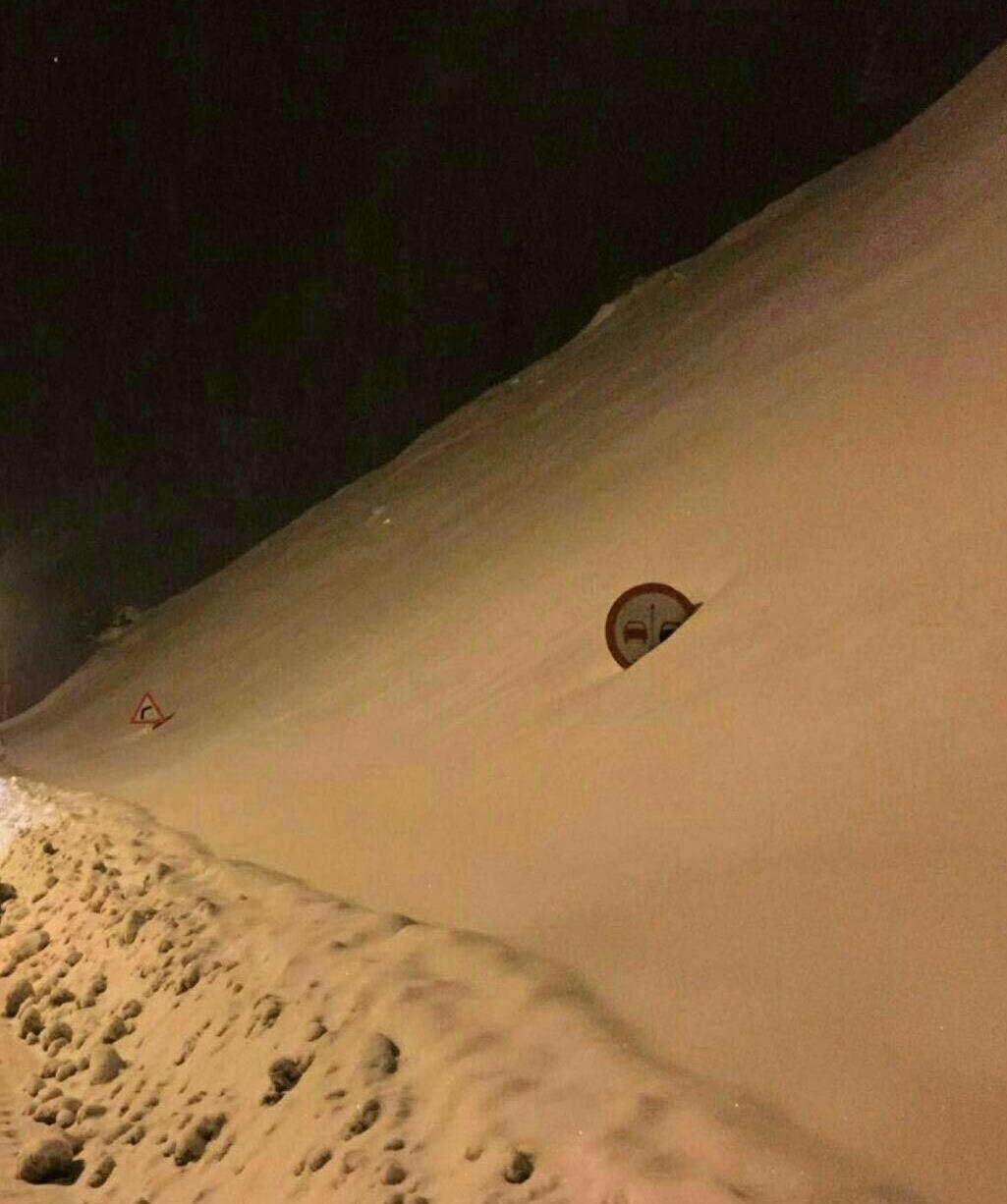 تصویری متفاوت از گردنه حیران برفی