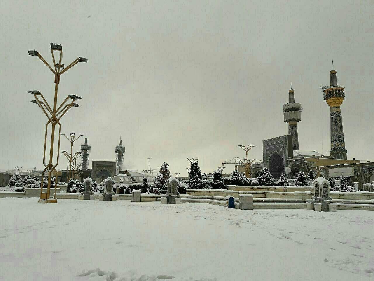 عکس مشهد برف