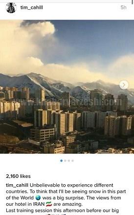 تمجید ستاره تیمملی استرالیا از آب و هوای تهران/شگفتانگیز است