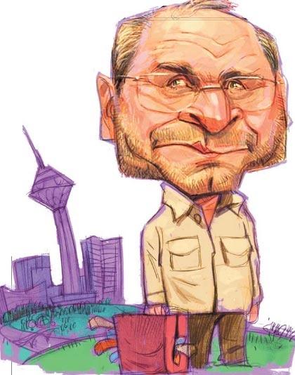 کاریکاتور محمد باقر قالیباف