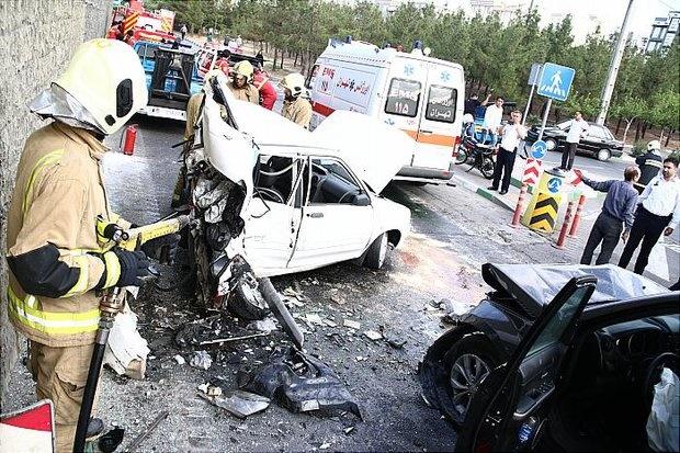 تصادف وحشتناک در بلوار مرزداران/عکس