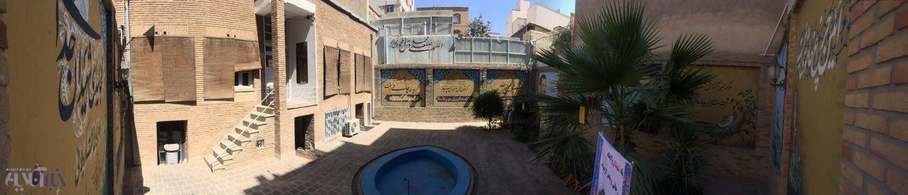 حیاط خانه شهید رجایی