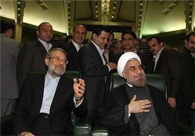 تقدیر لاریجانی از مواضع روحانی/ تأکید بر تعامل دولت و مجلس و فهم مشترک برای حل مشکلات