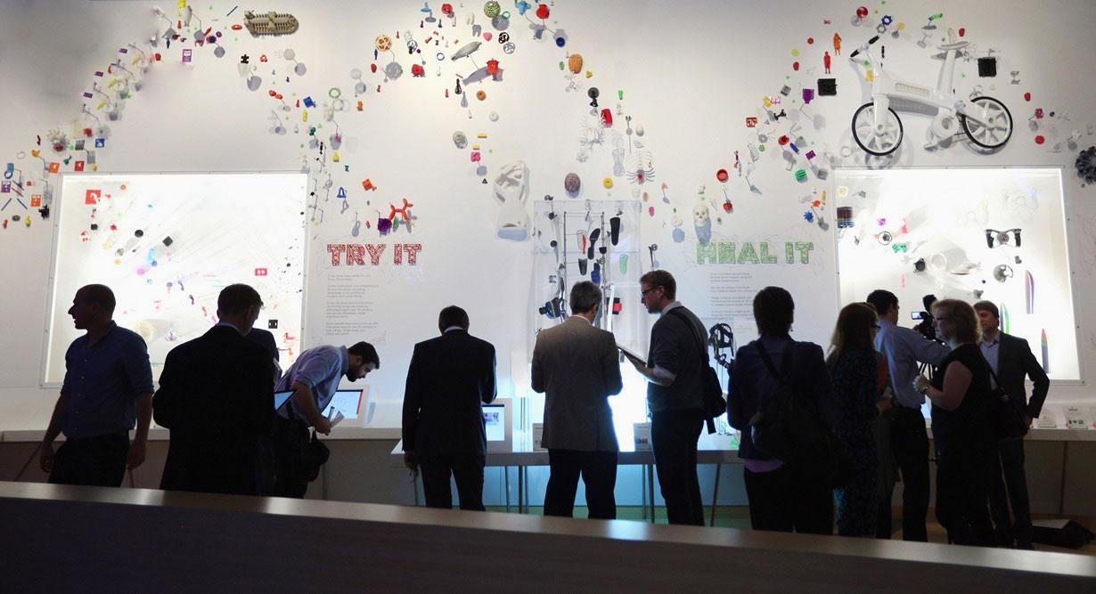 """تصاویری از نمایشگاه """"سه بعدی، چاپ آینده و آینده چاپ"""""""