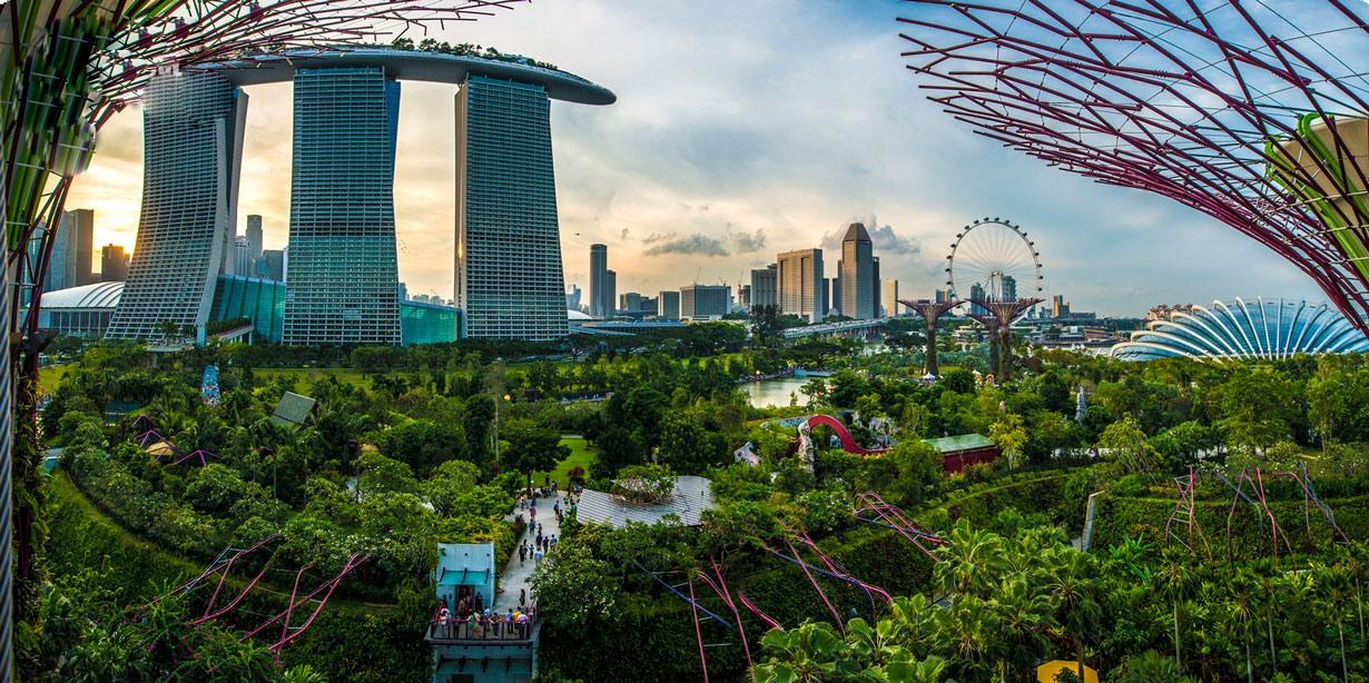 باغ معلق 1 میلیارد دلاری در سنگاپور