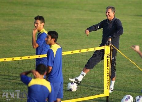 تصاویری از تمرین یکشنبه تیم ملی با حضور لژیونرها