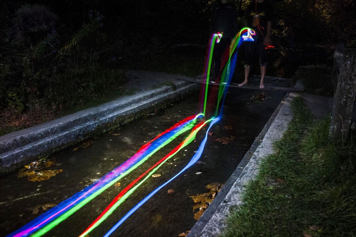 آبشارهای شمال کالیفرنیا رنگین کمانی شدند؛ ببینید