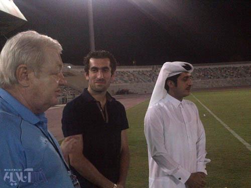 جباری در کنار میلان ماچالا / تصاویری از حضور مجتبی در تمرین الاهلی