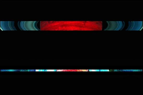 چشمانداز رنگارنگ خورشیدگرفتگی در سیاره زحل