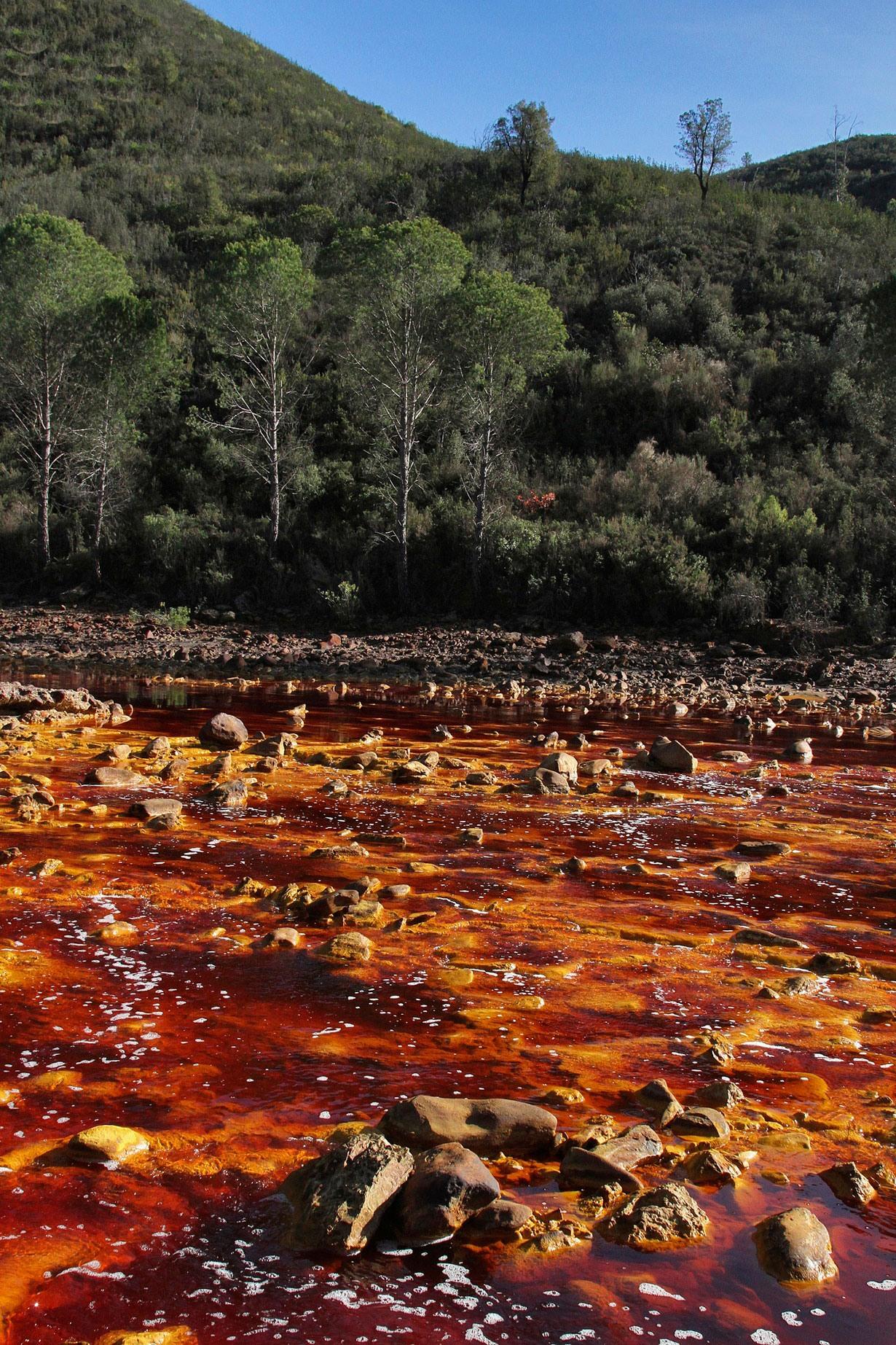 چرا آب این رودخانه در اندولس قرمز است؟