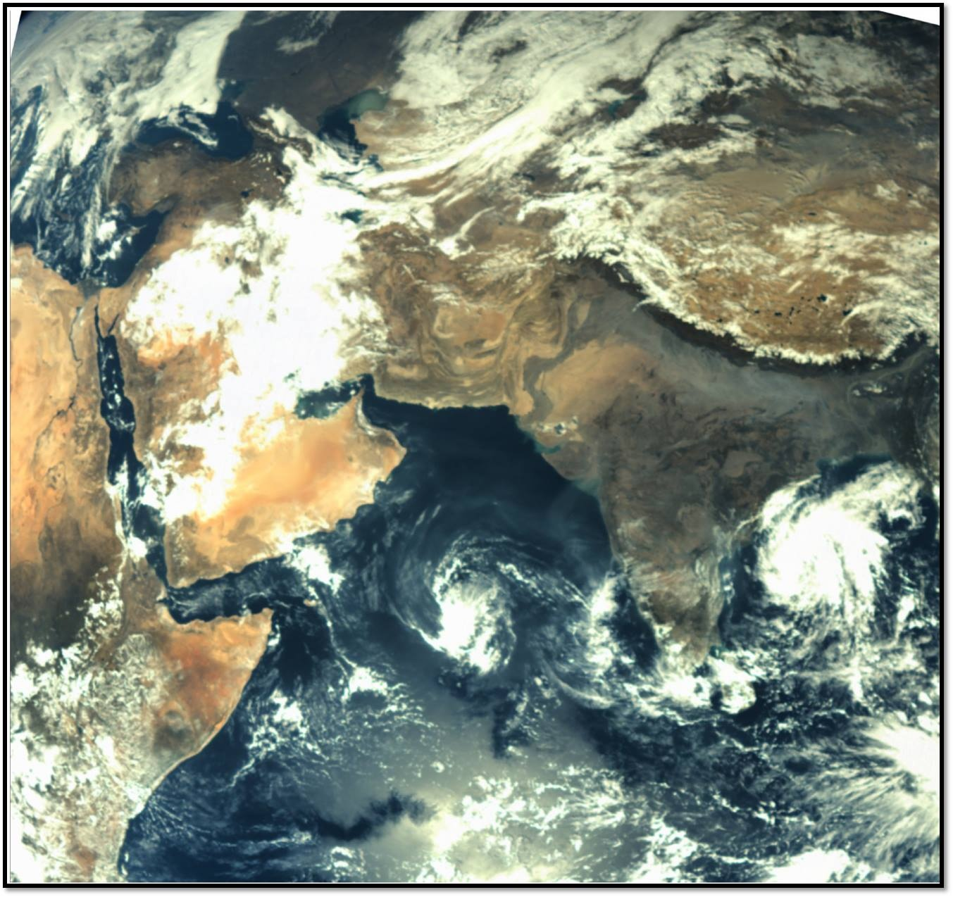 جدیدترین تصویر ماهوارهای ایران
