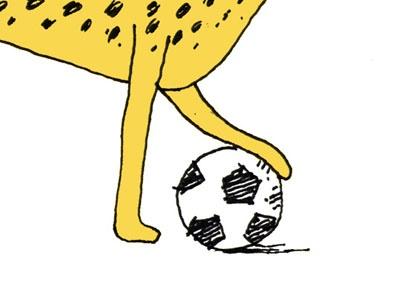 کاریکاتور/ نجات یوز ایرانی با فوتبال!
