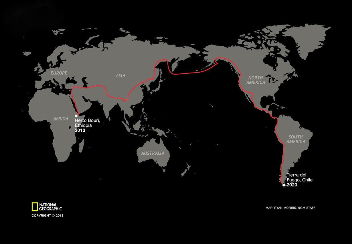 این مرد با شتر از اتیوپی شروع کرده، از ایران و چین عبور و به جنوب امریکا می رود