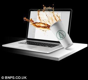 یک ایده جالب برای جلوگیری از ریخته شدن مایعات روی لپ تاپ