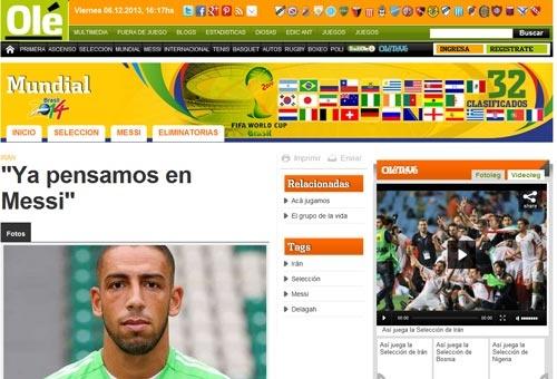 گزارش سایت آرژانتینی اوله از ایران/ دژاگه: همه ما می خواهیم مسی را مهار کنیم!