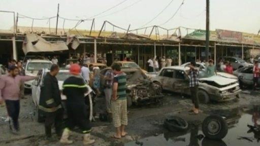 تصاویری از انفجارهای زنجیره ای در بغداد