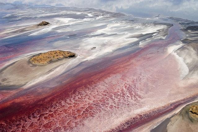 زیبایی های رویایی دریاچه نمک ناترون در تانزانیا